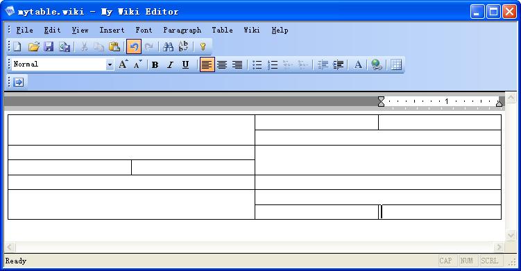 My Wiki Editor - The easily to use WYSIWYG wiki editor software