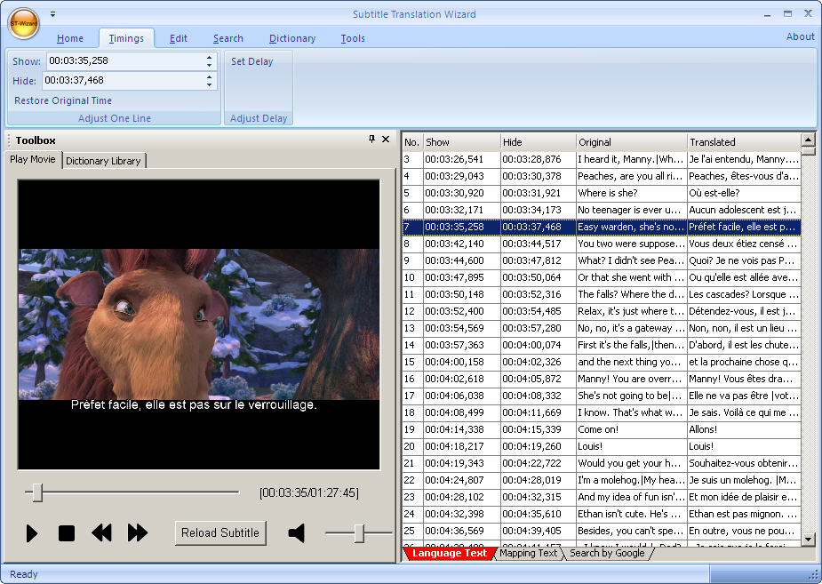 upRedSun Subtitle Translation Wizard Screenshot