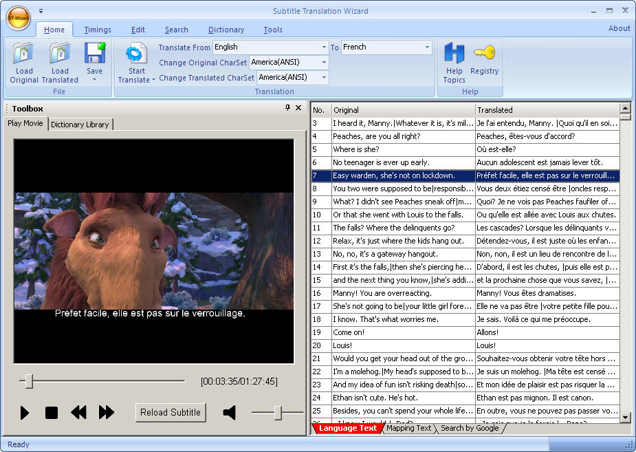 Click to view Subtitle Translation Wizard screenshots